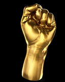 Gold fist Royalty Free Stock Photos