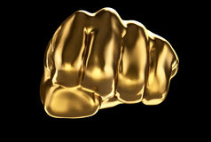 Gold fist. View from front Stock Images