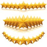 Gold five-pointed premium stars. vector Royalty Free Stock Photos