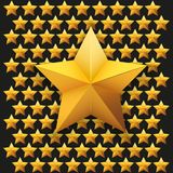 Gold five-pointed premium stars. vector Stock Image