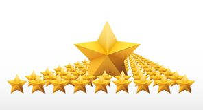 Gold five-pointed premium stars. vector Royalty Free Stock Images