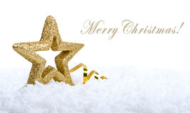 Gold Five Pointed Star Christmas Decoration Royalty Free Stock Photos