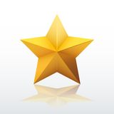 Gold five-pointed star. vector illustration Royalty Free Stock Images