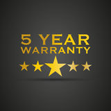 Gold five year warranty Stock Photos