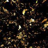 Gold flake glitter background. Gold flake shiny glitter background Stock Image