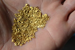 Gold flakes Royalty Free Stock Photos