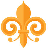 Gold Fleur de lis Mardi Gras design Royalty Free Stock Photo