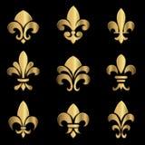 Gold Fleur De Lis Stock Images