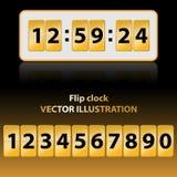 Gold flip clock Royalty Free Stock Photo