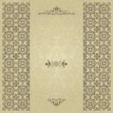 Gold floral abstract background royalty free illustration
