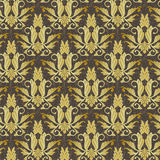 Gold floral abstract seamless Royalty Free Stock Images