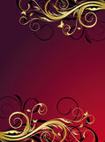 Gold floral abstraction Royalty Free Stock Image