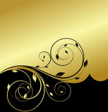 Gold floral abstraction Stock Photo
