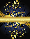 Gold floral abstraction stock illustration