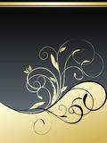 Gold floral background vector illustration