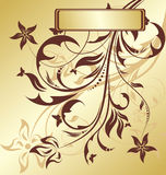 Gold floral background Royalty Free Stock Image