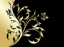 Gold floral background Stock Images