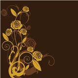 Gold floral background Stock Photos