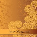 Gold floral background Royalty Free Stock Images