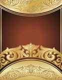 Gold floral background Stock Photography