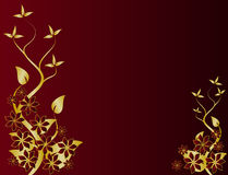 Gold Floral Background Royalty Free Stock Photography