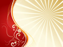 Gold floral background Royalty Free Stock Photos