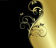 Gold floral background royalty free illustration