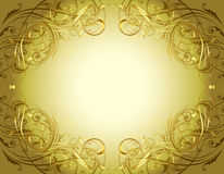 Gold Floral Background Frame Royalty Free Stock Photos