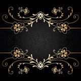 Gold floral background Stock Image