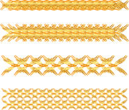 Gold floral border Royalty Free Stock Photography