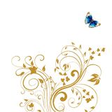 Gold floral butterfly background Royalty Free Stock Photo