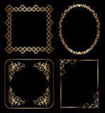 Gold floral decorative frames - vector Royalty Free Stock Photos
