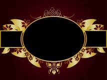 Gold Floral Design Stock Photos