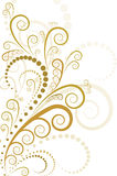Gold floral design. On white background Royalty Free Stock Images