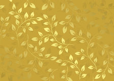 Gold floral floral pattern - vector Stock Image