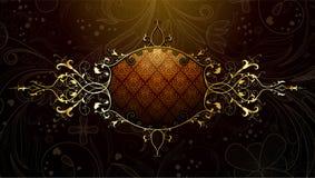 Gold floral frame Stock Image