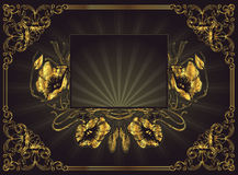 Gold floral frame Stock Photo