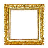 Gold floral frame Royalty Free Stock Photos