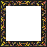 Gold floral frame Royalty Free Stock Photography