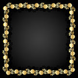 Gold floral frame. Stock Photos