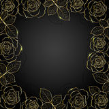Gold floral frame. Royalty Free Stock Photography