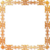Gold floral frame Royalty Free Stock Images
