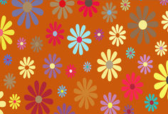 Gold Floral illustration stock photography