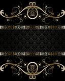 Floral background. Gold Floral Luxury Background Stock Photography