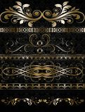 Set of golden ornate. Gold Floral Luxury Background Stock Photo