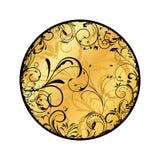 Gold floral medallion Stock Photos