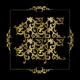 Gold floral ornament Royalty Free Stock Photos