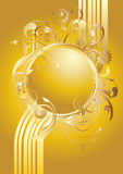 Gold floral ornaments Royalty Free Stock Photo