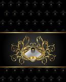 Gold floral packing with heraldic element Royalty Free Stock Photo