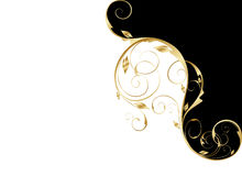 Gold floral pattern royalty free illustration